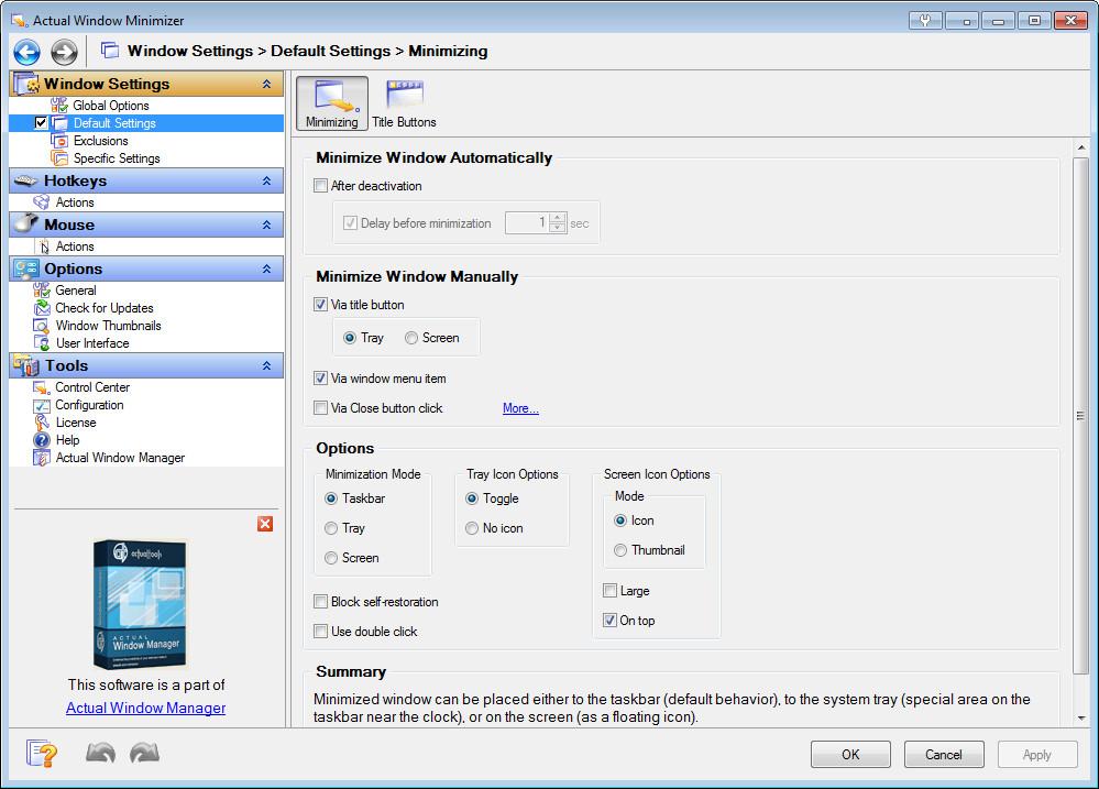 Actual Window Minimizer 8.14.0 Multilingual