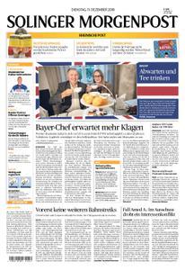 Solinger Morgenpost – 11. Dezember 2018
