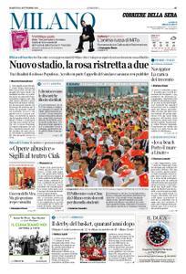 Corriere della Sera Milano – 10 settembre 2019