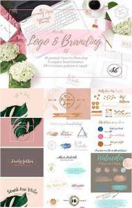 CreativeMarket - Pretty Premade Branding & Logo Kit