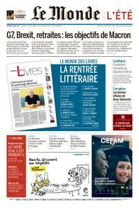 Le Monde du Vendredi 23 Août 2019