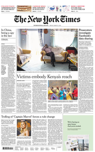 International New York Times - 15 March 2019