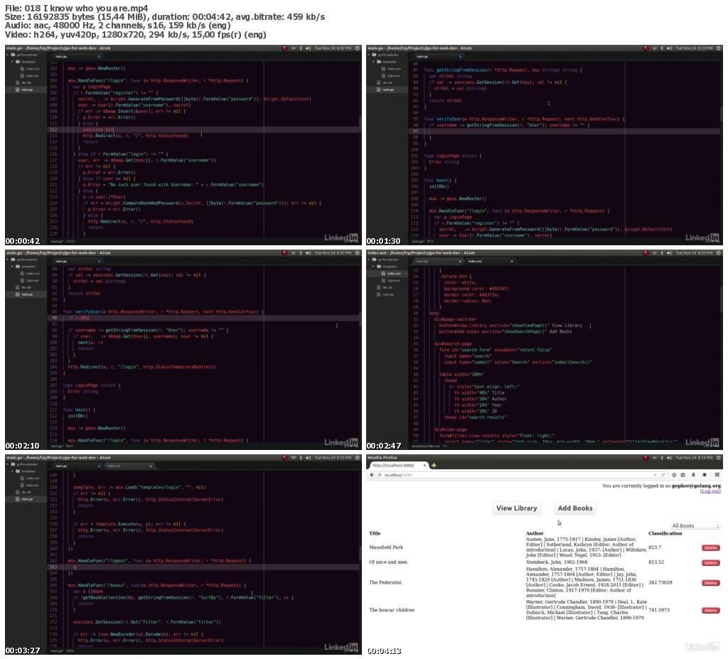 Lynda - Go for Web Development