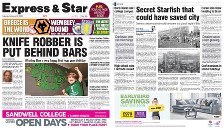 Express and Star City Edition – February 29, 2020