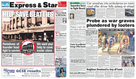 Express and Star Sandwell Edition – August 20, 2018