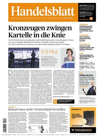 Handelsblatt vom 29.12.2009