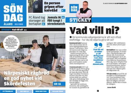 Ålandstidningen – 22 september 2019