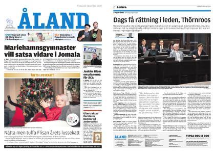 Ålandstidningen – 13 december 2019