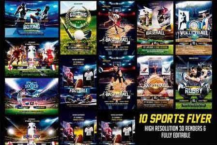 CreativeMarket - Sports Flyer Bundle
