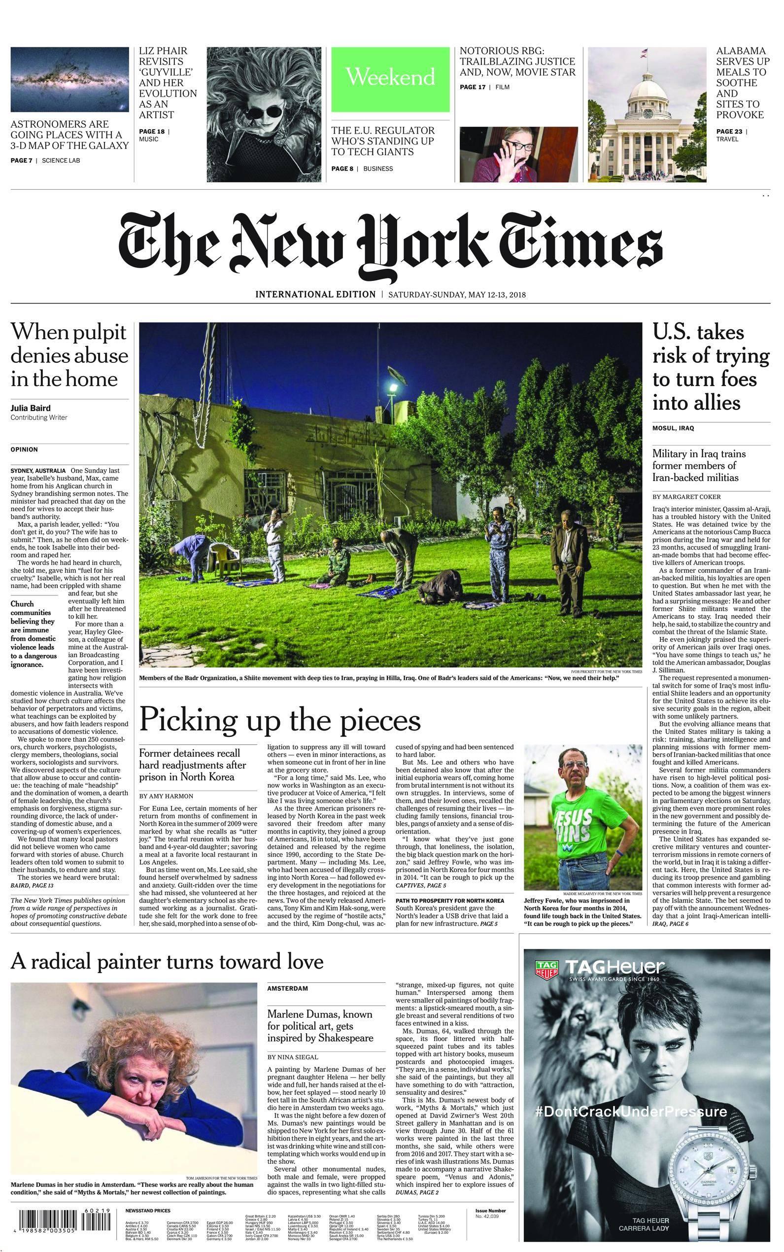 International New York Times - 12 May 2018