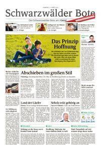 Schwarzwälder Bote St. Georgen, Triberg, Furtwangen - 31. März 2018