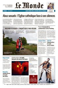 Le Monde du Dimanche 29 et Lundi 30 Septembre 2019
