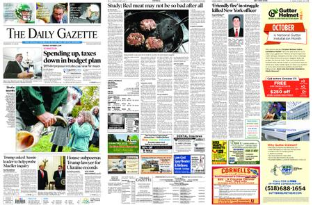 The Daily Gazette – October 01, 2019