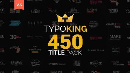 TypoKing - Title Animation - Kinetic Typography Text - Project for After Effects (VideoHive)