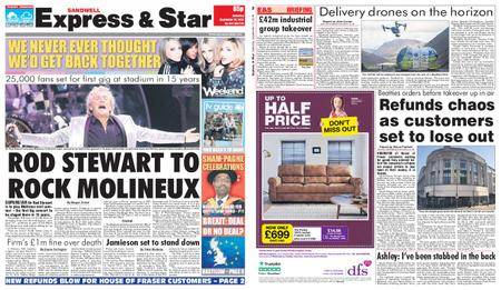 Express and Star Sandwell Edition – September 15, 2018
