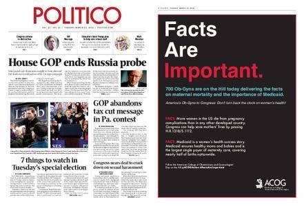 Politico – March 13, 2018