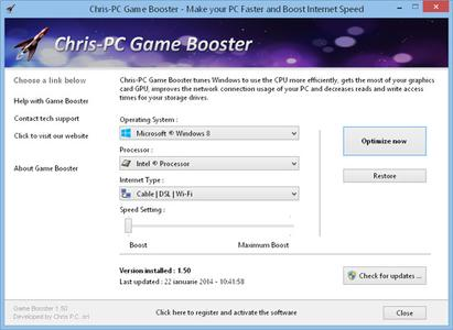 Chris-PC Game Booster 4.85