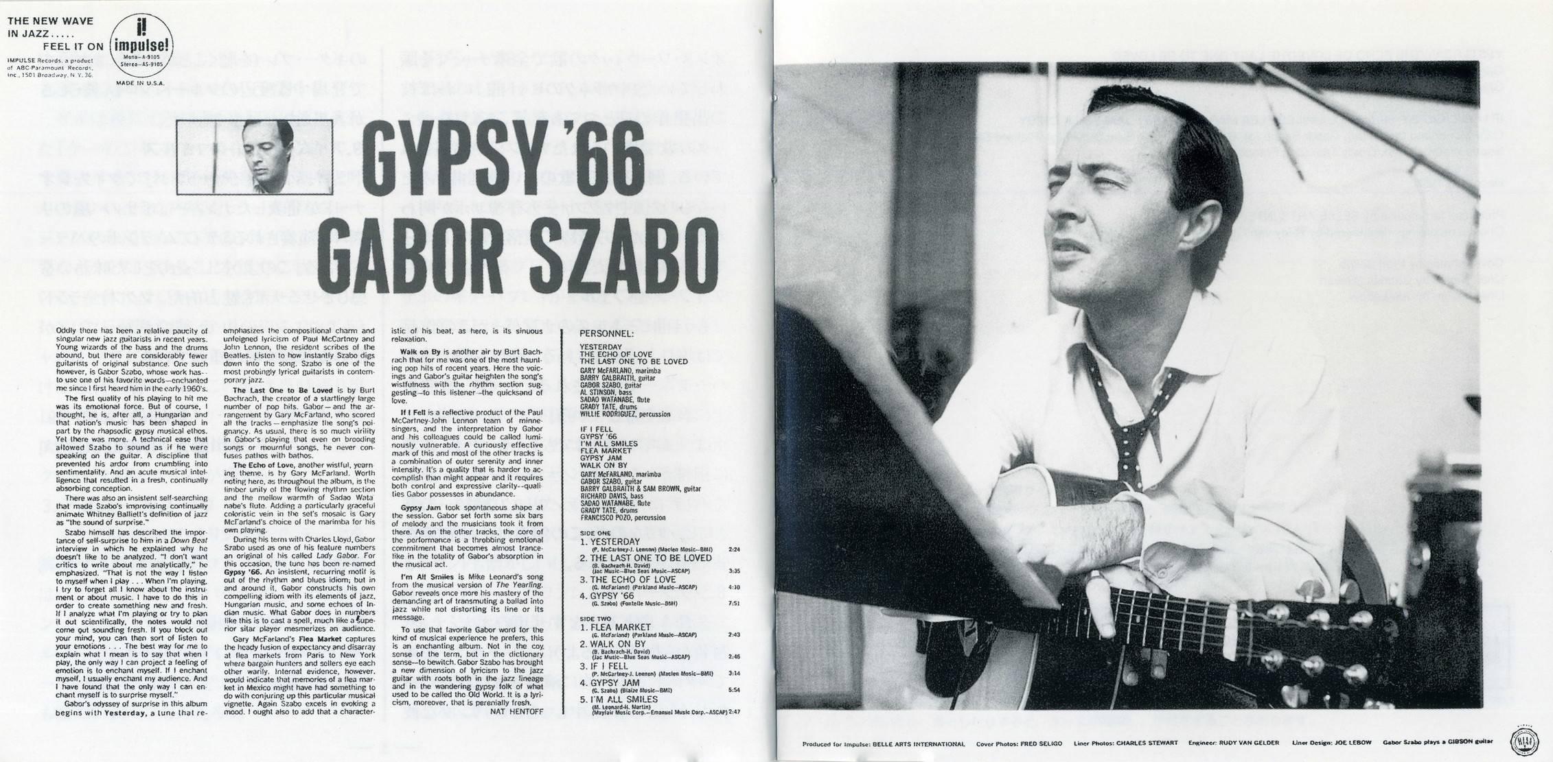 Gabor Szabo - Gypsy '66 (1965) {2005 Impulse! Japan Jazz The Best Series 24bit Remaster UCCU-5271}