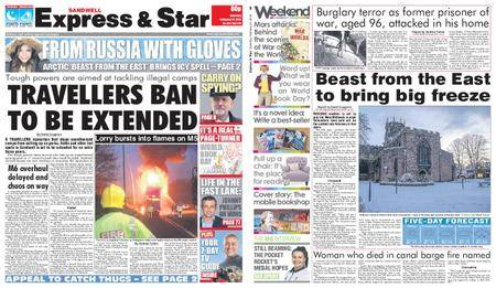 Express and Star Sandwell Edition – February 24, 2018