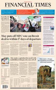 Financial Times Europe – 25 February 2019