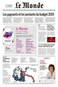 Le Monde du Mardi 25 Septembre 2018