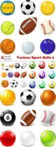 Vectors - Various Sport Balls 3