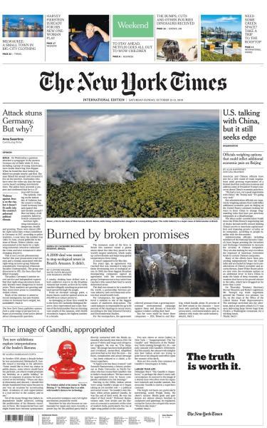 International New York Times - 12-13 October 2019