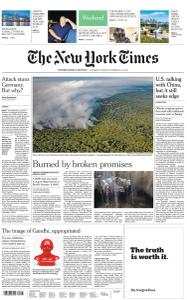 International New York Times - 12-13 October 2019
