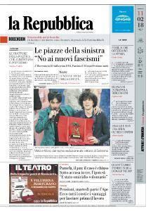 la Repubblica - 11 Febbraio 2018