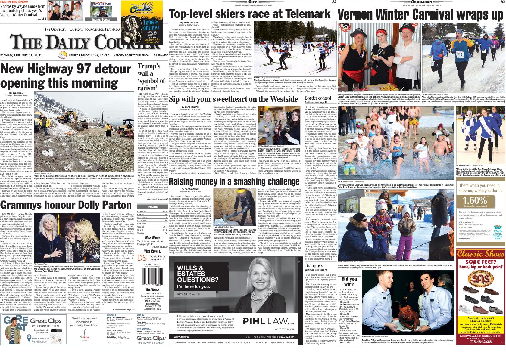 Kelowna Daily Courier – February 11, 2019