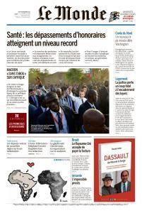 Le Monde du Jeudi 30 Novembre 2017