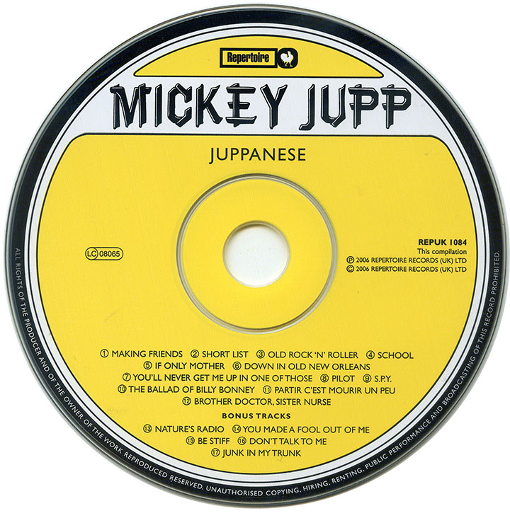 Mickey Jupp - Juppanese (1978) Expanded Remastered Reissue