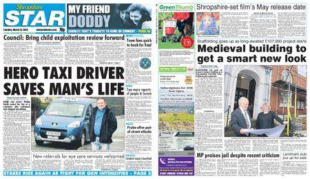 Shropshire Star Shrewsbury Edition – March 13, 2018