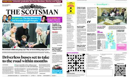 The Scotsman – November 23, 2018