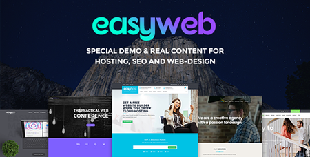 ThemeForest - EasyWeb v2.1.9 - WP Theme For Hosting, SEO and Web-design Agencies - 14881144