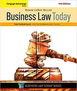 Business Law Today, The Essentials, 11th Edition