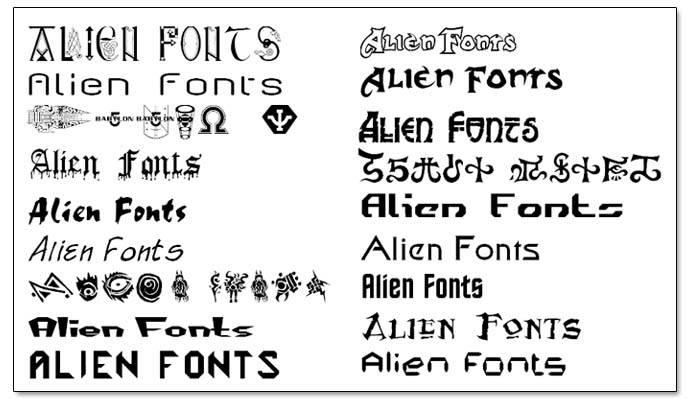 Alien Fonts