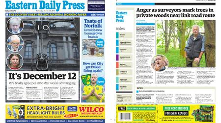 Eastern Daily Press – October 30, 2019