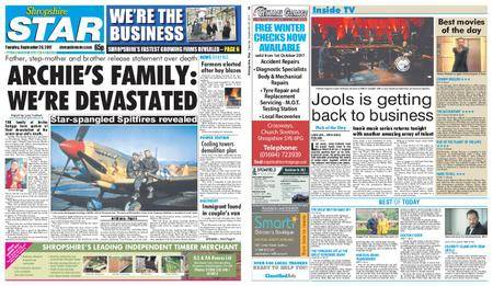 Shropshire Star Shrewsbury Edition – September 26, 2017
