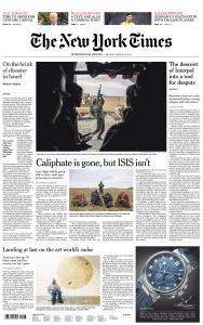 International New York Times - 25 March 2019