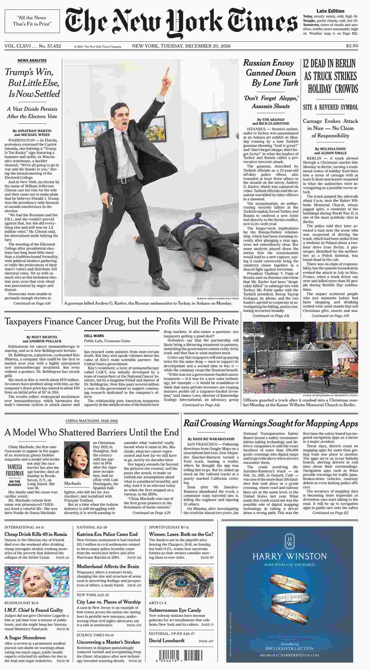 The New York Times  December 20 2016