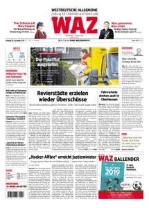 WAZ Westdeutsche Allgemeine Zeitung Oberhausen-Sterkrade - 18. Dezember 2018