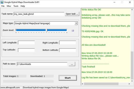 AllMapSoft Google Hybrid Maps Downloader 8.403