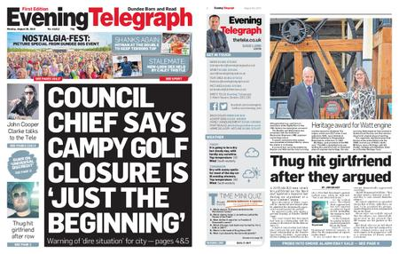 Evening Telegraph First Edition – August 26, 2019