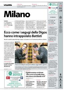 la Repubblica Milano - 14 Gennaio 2019
