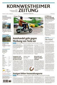 Kornwestheimer Zeitung - 18. Oktober 2018