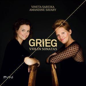 Vineta Sareika & Amandine Savary - Edvard Grieg: Violin Sonatas (2018) [Official Digital Download 24/96]