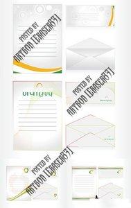 Postcard, Letterhead and Envelop Vectors
