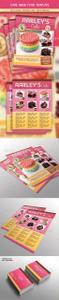Graphicriver - Cake Menu Flyer + Business Card 6784299