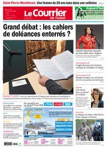 Le Courrier de l'Ouest Cholet – 22 janvier 2020